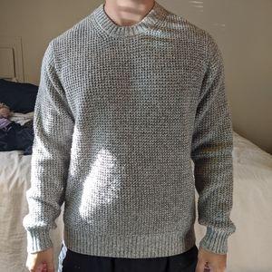Men's Waffle Knit Crewneck Long-Sleeve Sweater
